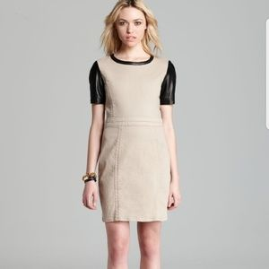 NWT Marc Jacobs Toasted Pecan & Leather Dress